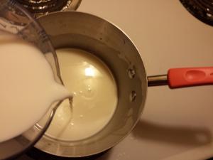 stream in milk